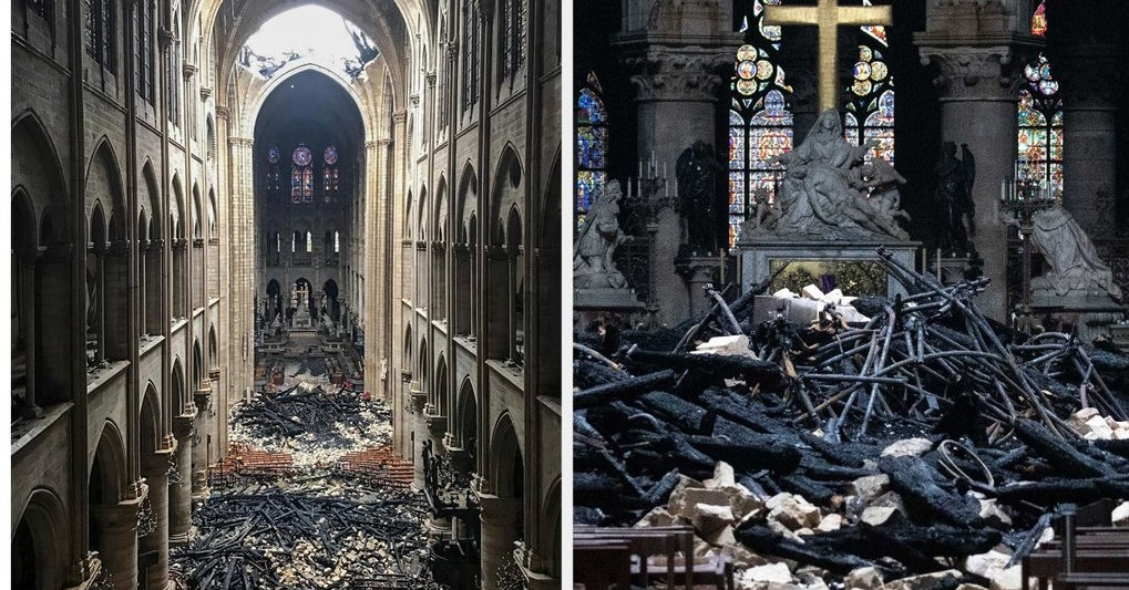 Photos Reveal Damage Inside Notre Dame Cathedral In Paris After Fire