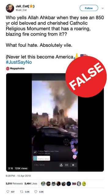 Notre Dame Fire Hoaxes Are Already Spreading On Social Media