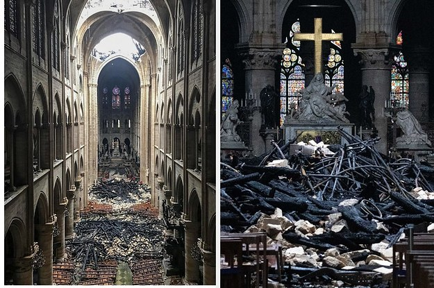 Photos Reveal The Damage Inside Notre Dame Cathedral After The Fire