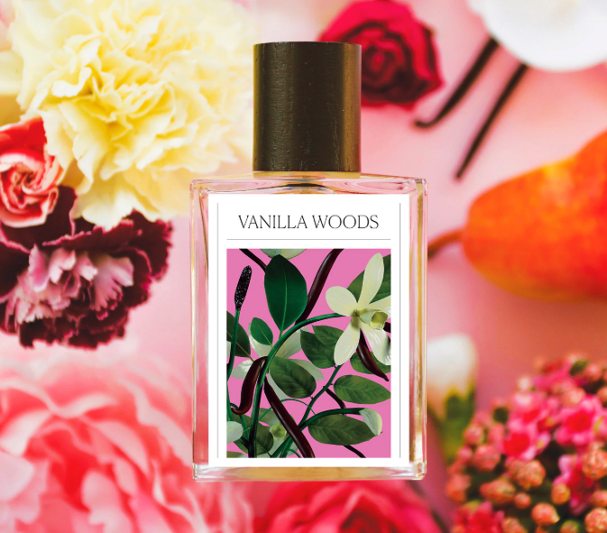 the vanilla woods perfume bottle
