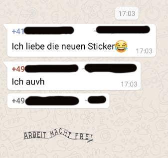 Lustige sticker whatsapp