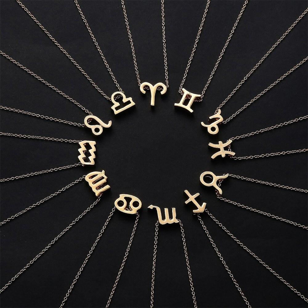 small zodiac sign necklaces