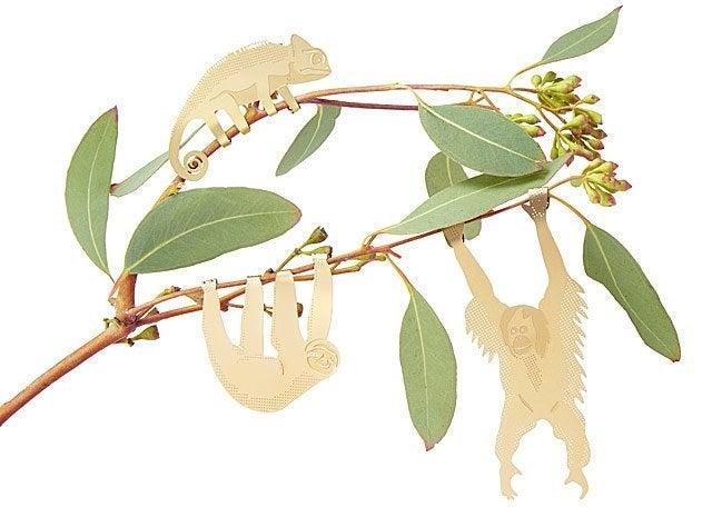 Animal decor on a branch