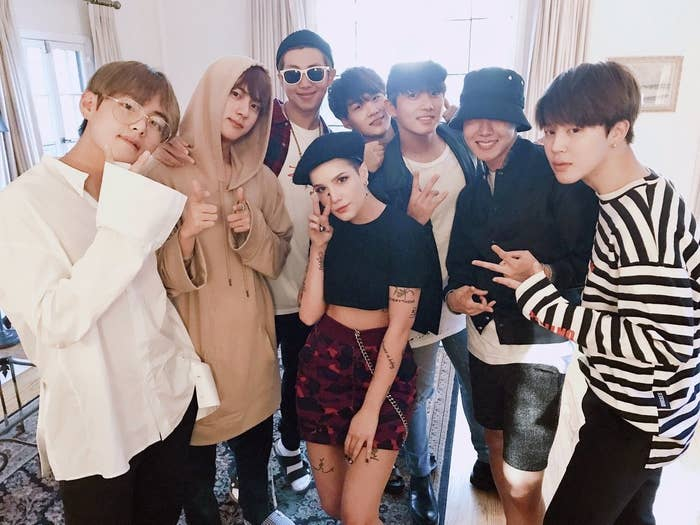 Halsey Wrote A Touching Tribute To BTS After They Appeared