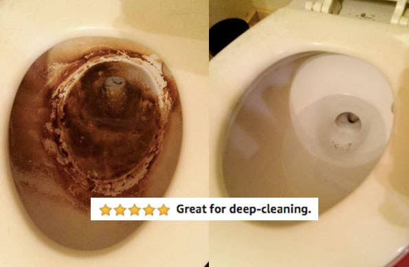Reviewer photo showing before-and-after results of using disposable cleaning wand