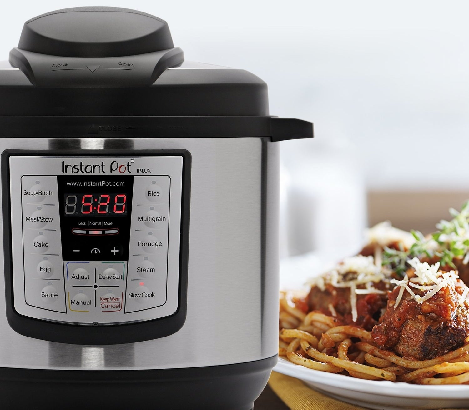 "This combines six kitchen appliances in one — it pressure cooks, slow cooks, cooks rice, sautés, steams, and warms. It reduces cooking time by 70% compared to other kitchen gadgets. It can keep food warm automatically for up to 10 hours, and there are three temperatures for sauté and slow-cook. The inner cooking pot, lid, and steam-rack are dishwasher-safe!Promising review: ""This is probably the only kitchen appliance I've ever bought that has earned permanent status on my kitchen counter. I use it at least three times a week. It's particularly perfect for vegans and WFPB-eaters. I can cook beans and grains from scratch in no time! Such a wonderful investment. I liked it so much that I got one for each of my sisters for the holidays. Best. Thing. Ever."" —cynthia w. rogersCheck out our review of the incredible Instant Pot!Get it from Amazon for $59.95+ (available in three sizes)."