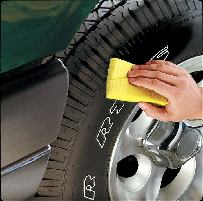 "Promising review: ""Love these sponges. Use them for everything, not just dishes! The scrub side is abrasive enough to clean brake dust from chrome and mag wheels but soft enough to not scratch them. And for the price, very responsible, you can't go wrong and won't be disappointed. I get them delivered monthly."" —MJGet them from Amazon for $5.62 (for a pack of six)."