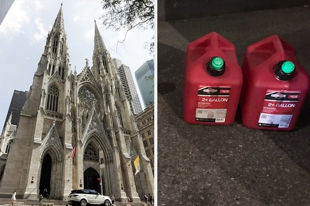 A Man Carrying Two Gas Cans And Lighters Was Arrested At NYC's St. Patrick's Cathedral