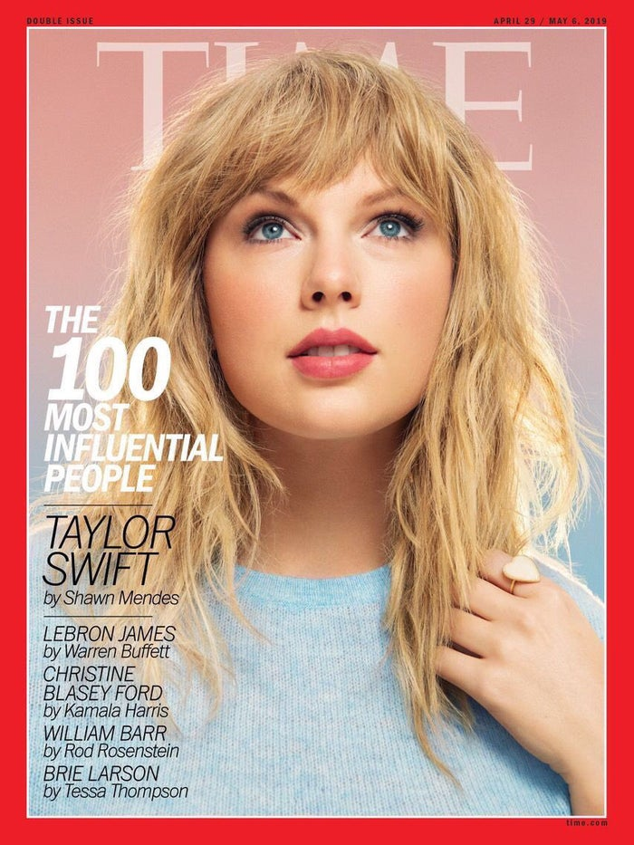 This is the third time Taylor has appeared on the cover of the magazine.Other covers for this issue feature Sandra Oh, Dwayne Johnson, Nancy Pelosi, Gayle King, and Mohamad Salah.