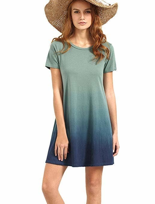 c53dbba1c8e An ombre T-shirt dress for when you simply don t want to compromise on what  color to wear.
