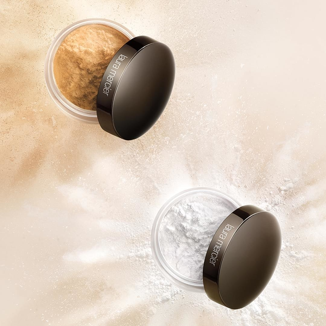 Laura Mericer's setting powder in two shades