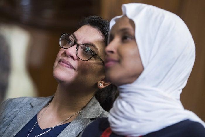 Reps. Rashida Tlaib (left) and Ilhan Omar.