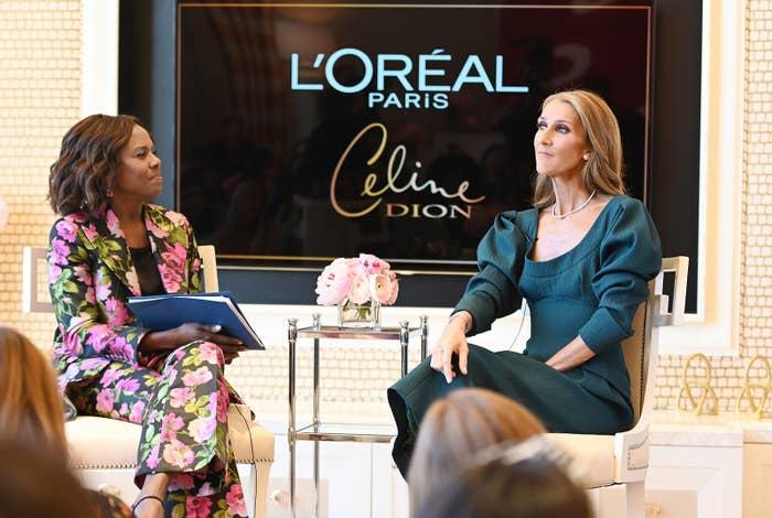 Celine Dion talks with ABC's Deborah Roberts.