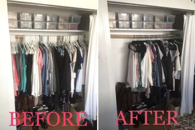 21 Things That'll Basically Double The Space In Your Closet