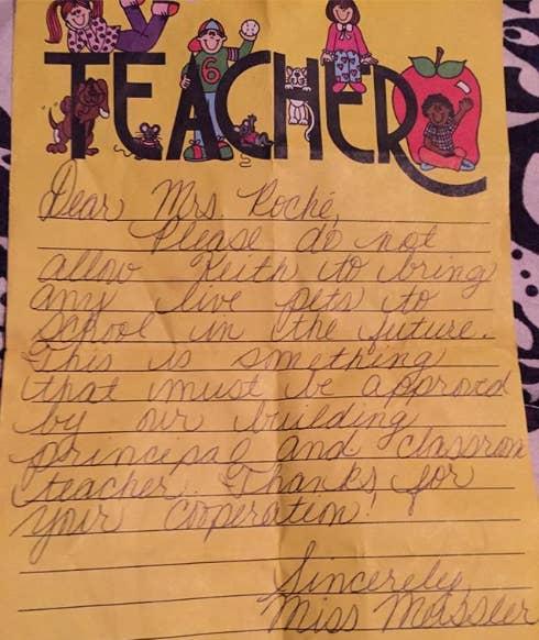 17 Awkward Notes Teachers Sent Home To Parents