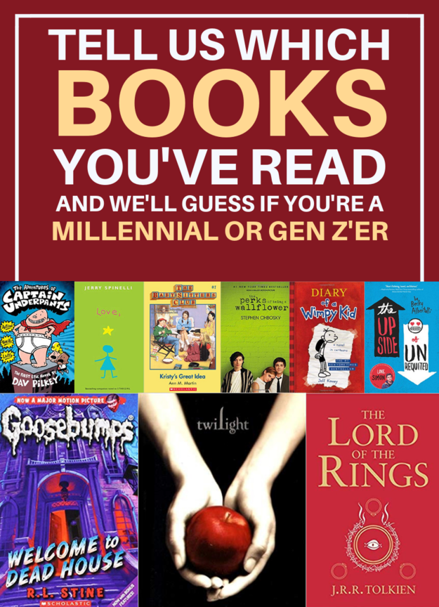 Sorry Gen Z'ers, Only Millennials Have Read At Least 18/51 Of These Books