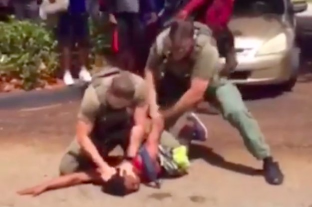 """Florida Police Officers Who Slammed A 15 Year-Old Black Boy's Head To The Ground In Viral Arrest Video Said He Was Acting """"Aggressive"""""""
