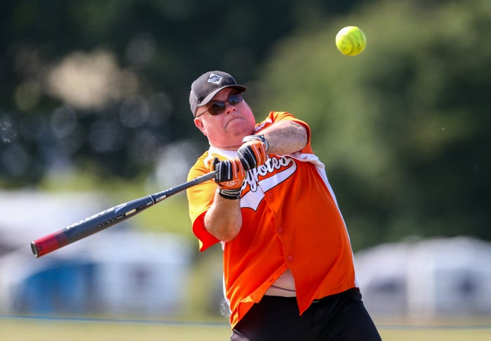 Softball isn't massively exerting, so we have players of all shapes and sizes in our squads. Rather than relying on physical ability, softball is a team game that rewards communication and teamwork.