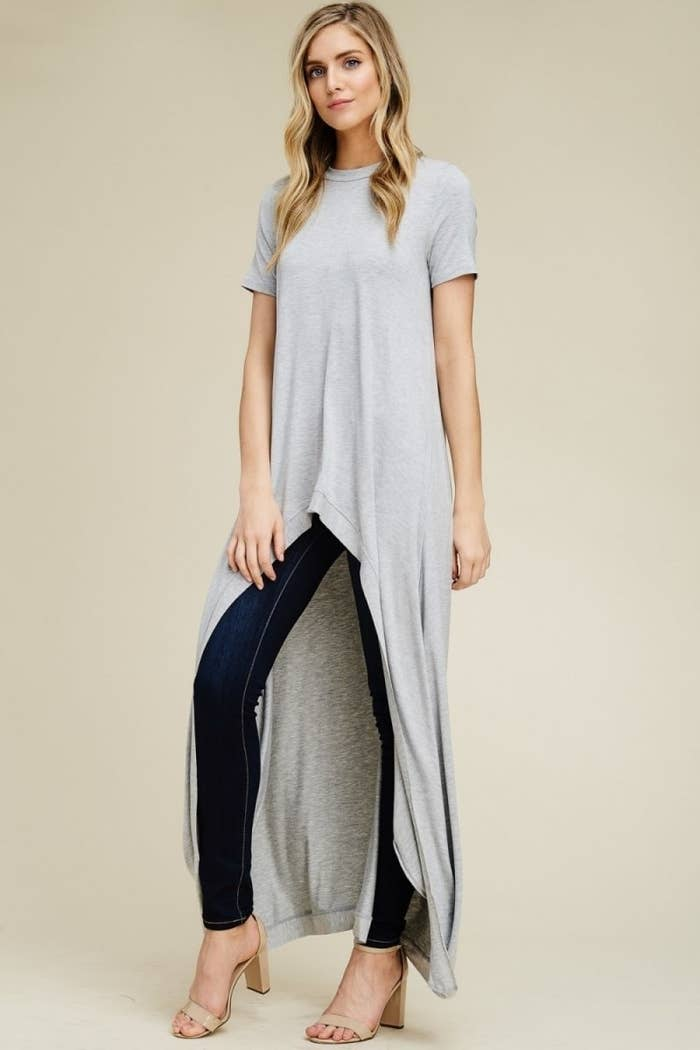 38b81def4d353 A loose-fitting and super-soft maxi tee so you can strut your stuff down  the street while staying incredibly cozy...and those are two things that  need to go ...