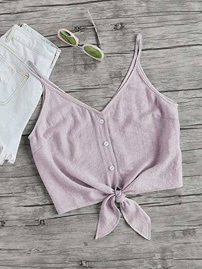 769f4f26f00699 A cutie crop top to style up any pair of jeans because summer is near and  we must prepare our wardrobe for such a chic season!! Amazon