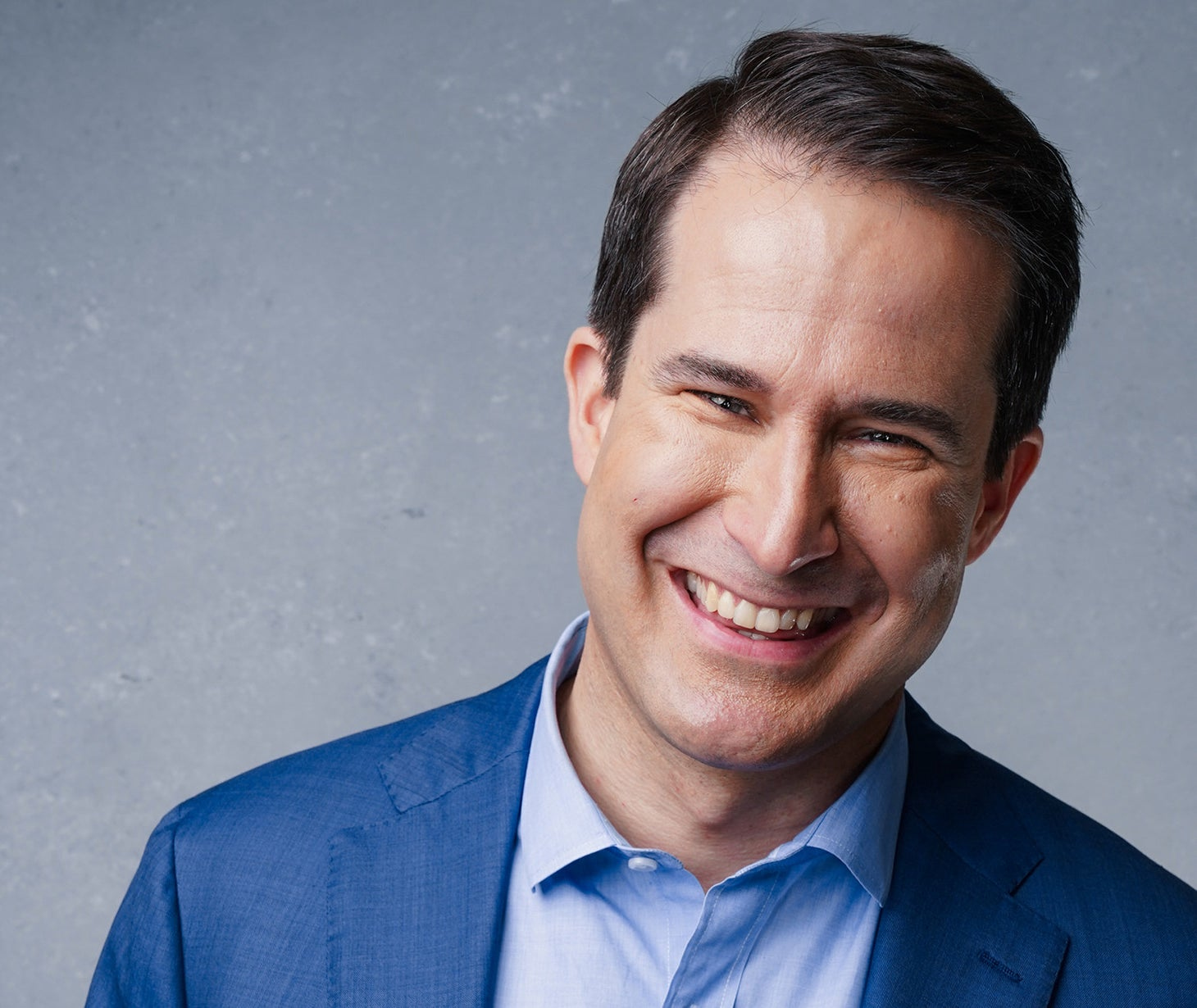 Seth Moulton poses for a portrait at the BuzzFeed News studios in New York.