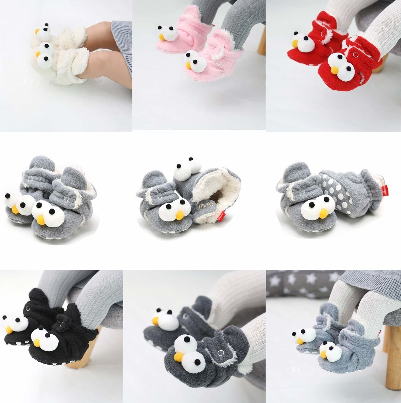 """Promising review: """"One of the best purchases for winter months. Sizing is large however the booties are kept on by the snaps. I never had an issue with my daughter being able to kick thee booties off."""" —Michelle A PresselPrice: $6.99+ (available in sizes 0–18 months and 27 colors)"""