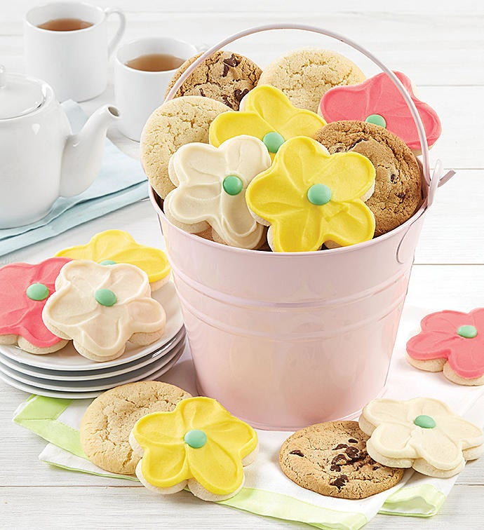 It's her day — she can have as many sweet treats as she wants! This order comes with 16 cookies, including buttercream frosted flower cookies, chocolate chip, and classic sugar cookies. You can also save 15% off sitewide with code CCOBUZZ15.Get it from Cheryl's for $29.99.
