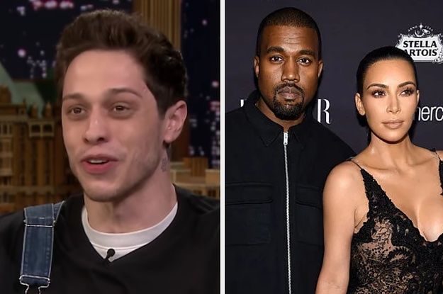 Pete Davidson Got Stuck Paying Kim And Kanye's Expensive Dinner Bill And The Story Will Make You Cringe