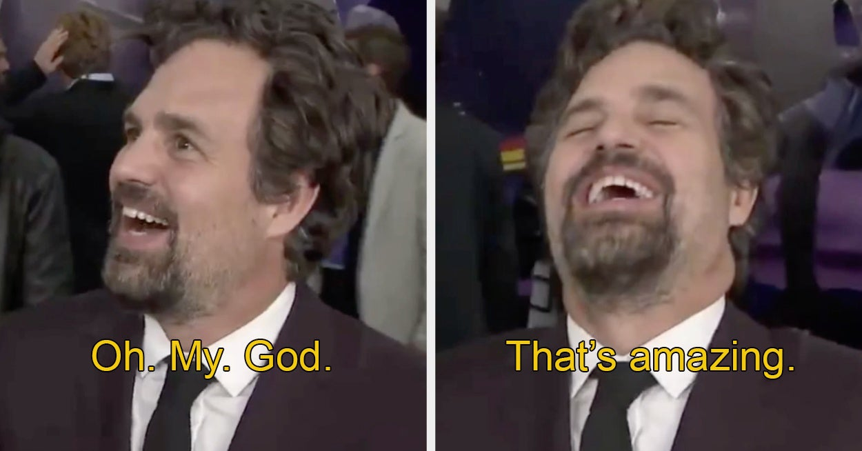 So Mark Ruffalo Just Found Out Brie Larson Was In