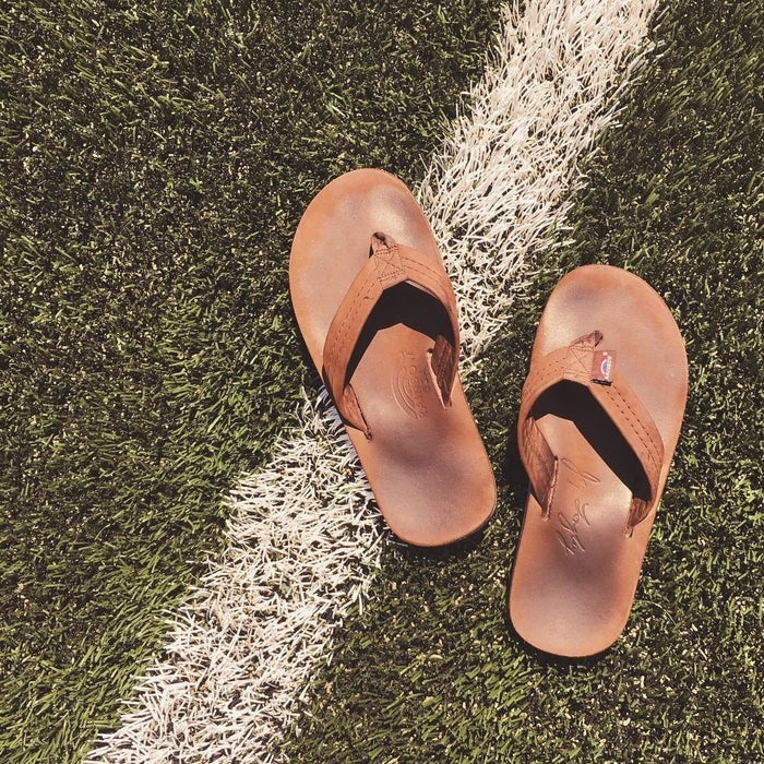 "Promising review: ""I previously owned Rainbow sandals. I love them for everyday use and you don't have to worry about getting them dirty or wet. These sandals are built to last and be rugged."" —miguel a. payaresGet them from Amazon for $46.95+ (available in sizes 7–11 and eight colors)."