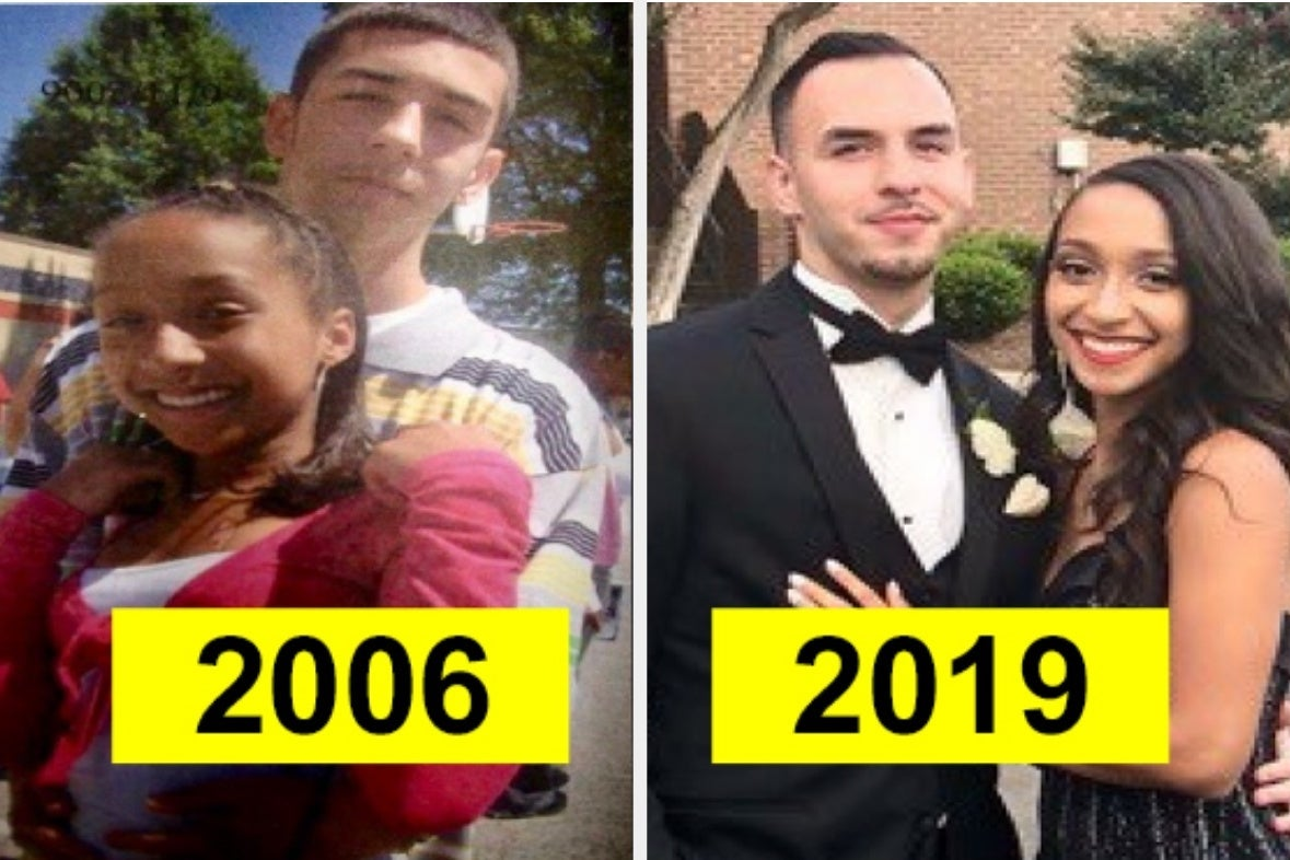 21 Incredibly Cute Photos Of High School Sweethearts Then And Now