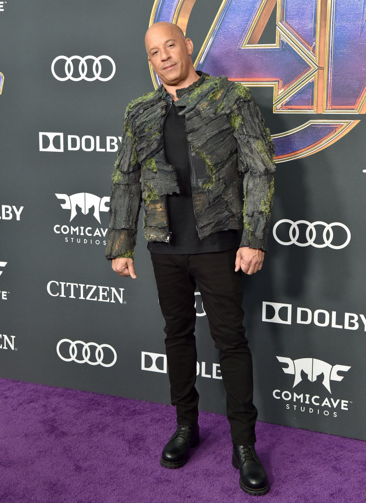 """Vin Diesel Showed Up To The """"Avengers: Endgame"""" Premiere In A Groot Jacket Cause He Is Groot"""