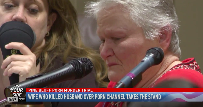Patricia Hill testifying in court on Tuesday.
