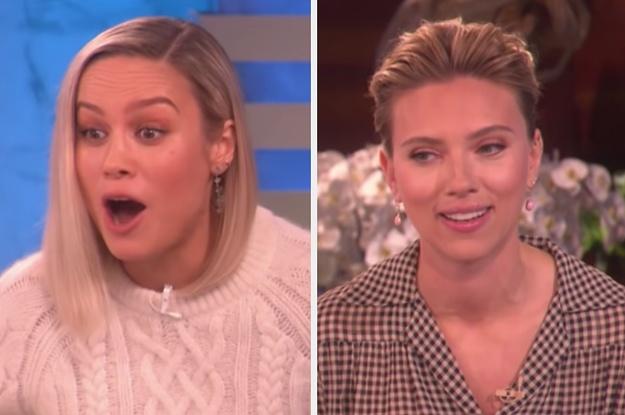 Ellen Surprised Brie Larson And Scarlett Johansson ...