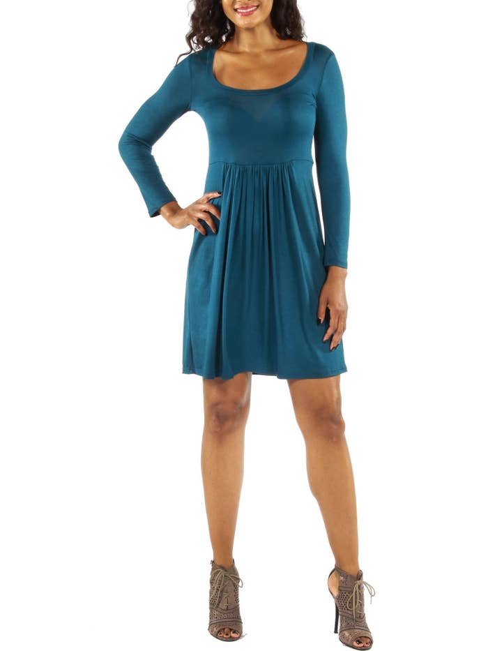"""Promising review: """"I love this dress. The color is beautiful. The size is true. It's very stylish and comfortable."""" —JudePrice: $24.77 (available in sizes M–1XL and two colors)"""