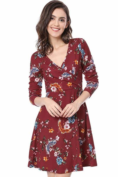 cdb341a6e69 A mini wrap dress you ll want to throw on for that family dinner party. Get  ready for squeezed cheeks and you re-all-grown-up comments from the elderly!