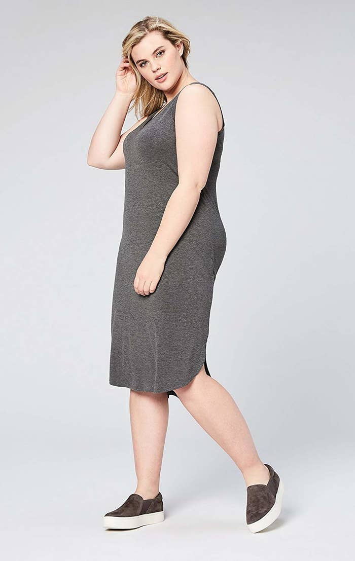 """Promising review: """"Love this dress! I'm working on a *capsule wardrobe* and this fit the bill. It's lightweight and can be dressed up with scarves, shrug, a cardigan, or a blazer. It washes very nicely and I love that it doesn't wrinkle when I fold it up."""" —THE IslandGirl...SharonGet it from Amazon for $20 (available in sizes 1X-7X and in four colors)."""