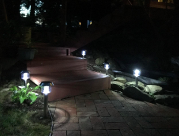 the solar lights at night