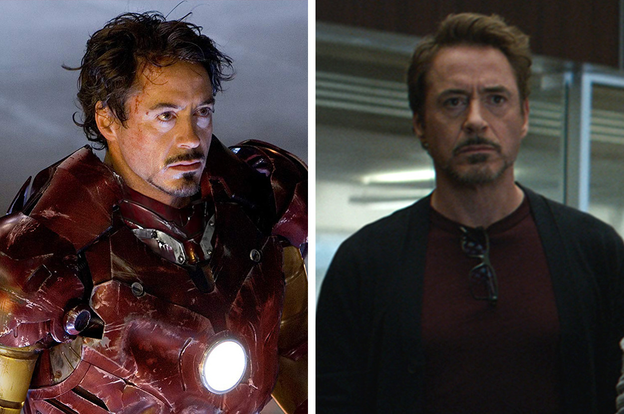 "Here's What The ""Avengers: Endgame"" Cast Looked Like In Their First Marvel Movie Vs. Now"
