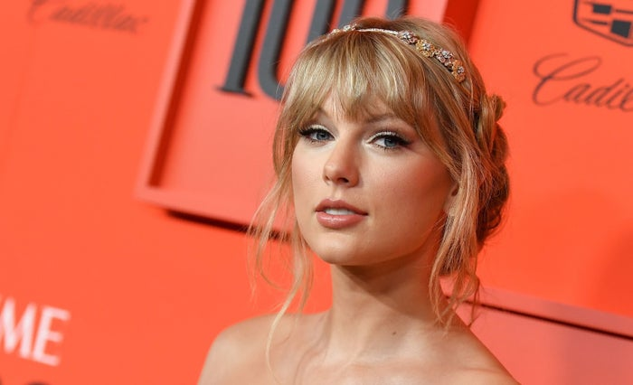 Taylor Swift arrives on the red carpet for the Time 100 Gala at Lincoln Center in New York on April 23.