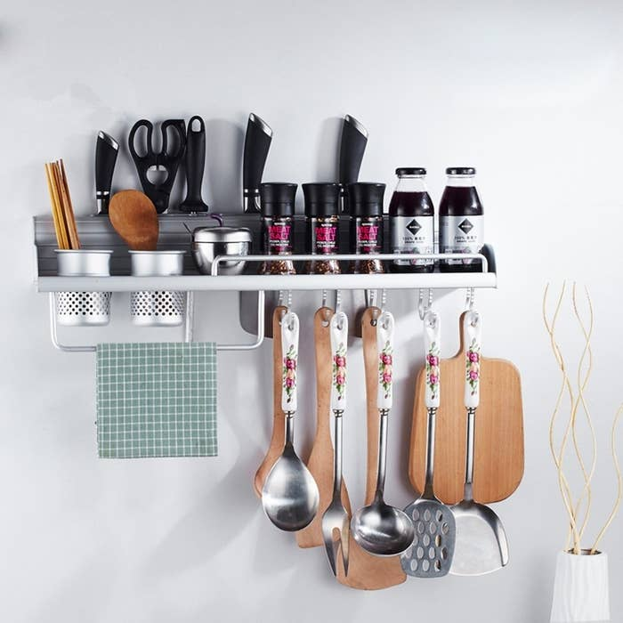 """Promising review:""""I bought this when we moved into our new house. It is useful and it could hold so many items. Because it can be installed in the wall, it saves more space, which helps us to save a lot of room in our kitchen."""" —Amazon CustomerGet it from Amazon or$27.89."""