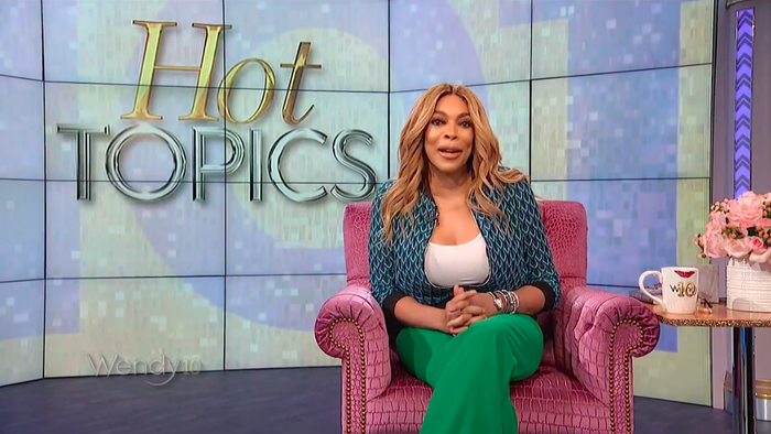 Wendy Williams on her eponymous talk show.
