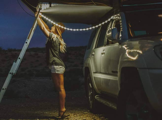 """These can be used to set a fun scene anywhere: by the pool, during an outdoor movie-night, at a BBQ, park, campsite, etc. Promising review: """"For the longest time I was looking for a rope light or light string that could be powered by USB. The built-in magnets are great for any magnetic surface and the ties are great for anything else that you want to wrap it around. At 180 lumens it lights up the dark. I stuck this to my porch railing using the magnets and it lit up the backyard enough for me to see where I was walking. I see there are two new noodles coming out in the near future and I can't wait to get my hands on them."""" —NateGet it from Amazon for $19.99+ (available in two lengths with or without a battery)."""