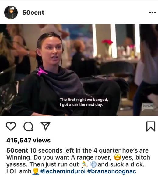So on Friday, 50 Cent posted a clip from a recent episode of Vanderpump Rules on his Instagram page, in which Lala joked about using sex with Randall to get ...