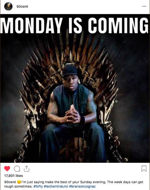 And over the course of the weekend, the memes just kept coming from 50 Cent.
