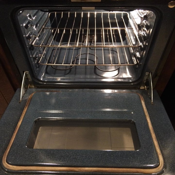 shiny, clean oven