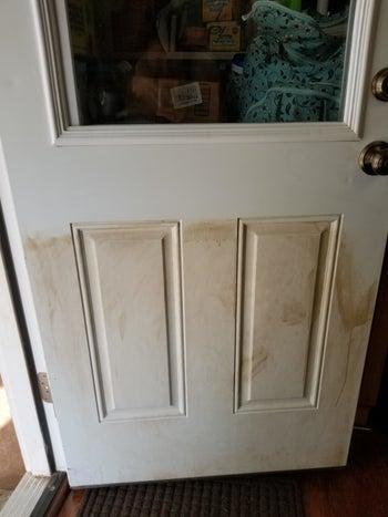 before: dirty door