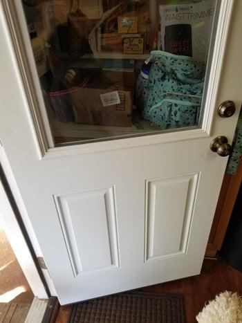 after: clean door