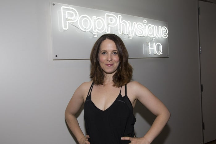 Jennifer Williams, cofounder of barre fitness studio Pop Physique in downtown Los Angeles.