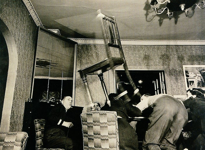 """""""These photographs record levitation séances that were held at the home of Danish photographer Sven Türck in the 1940s."""""""